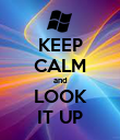 KEEP CALM and LOOK IT UP - Personalised Poster large