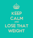 KEEP CALM AND LOSE THAT WEIGHT - Personalised Poster large