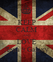 KEEP CALM AND LOVE Лена ϟ Galaxy - Personalised Poster large
