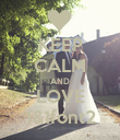 KEEP CALM AND LOVE 1&1font2 - Personalised Poster large