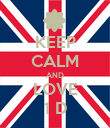KEEP CALM AND LOVE 1 D - Personalised Poster large