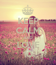 KEEP CALM AND LOVE 10 - Personalised Poster large