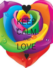 KEEP CALM AND LOVE ♥ - Personalised Poster large