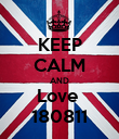 KEEP CALM AND Love  180811 - Personalised Poster large