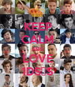 KEEP CALM AND LOVE 1D∞♡∞ - Personalised Poster large