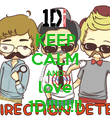 KEEP CALM AND love 1D!!!!!!!!! - Personalised Poster large