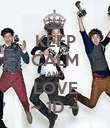 KEEP CALM AND LOVE ~ 1D ~ - Personalised Poster large