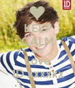 KEEP CALM AND Love 1D xxxxxx - Personalised Poster large