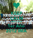KEEP CALM AND LOVE 1er Año  2012 IMA - Personalised Poster large
