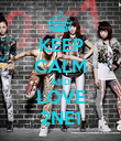 KEEP CALM AND LOVE 2NE1 - Personalised Poster large
