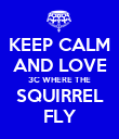 KEEP CALM AND LOVE 3C WHERE THE SQUIRREL FLY - Personalised Poster large