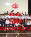 KEEP CALM AND LOVE 3DIAMOND'12 - Personalised Poster large