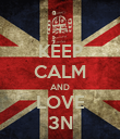 KEEP CALM AND LOVE 3N - Personalised Poster large