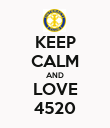 KEEP CALM AND LOVE 4520 - Personalised Poster large