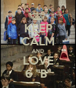 "KEEP CALM AND LOVE 6 ""B"" - Personalised Poster large"