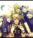 KEEP CALM AND LOVE 7.1 - Personalised Poster large