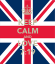 KEEP CALM AND LOVE 7:19 - Personalised Poster large
