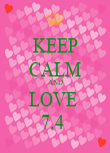 KEEP CALM AND LOVE  7.4  - Personalised Poster large