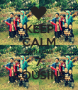 KEEP CALM AND LOVE 7 COUSINS - Personalised Poster large