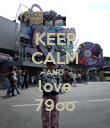 KEEP CALM AND love 79oo - Personalised Poster large