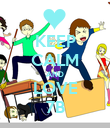 KEEP CALM AND LOVE 7B - Personalised Poster large