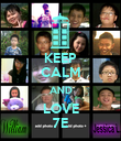 KEEP CALM AND LOVE 7E - Personalised Poster large