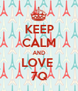 KEEP CALM AND LOVE  7Q - Personalised Poster small
