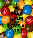KEEP CALM AND LOVE A 3B - Personalised Poster large