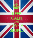 KEEP CALM AND LOVE A BEUKES - Personalised Poster large