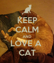 KEEP CALM AND LOVE A  CAT - Personalised Poster large
