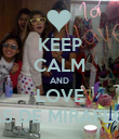 KEEP CALM AND LOVE A LAS DE MIRAFLORES - Personalised Poster large