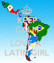 KEEP CALM AND LOVE A  LATIN GIRL - Personalised Poster large