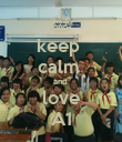 keep  calm  and  love A1 - Personalised Poster large