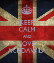 KEEP CALM AND LOVE ACHDAWILA - Personalised Poster large