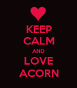KEEP CALM AND LOVE ACORN - Personalised Poster large