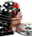 KEEP CALM AND LOVE ACTING - Personalised Poster large