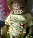 KEEP CALM AND LOVE ADIRGA - Personalised Poster large
