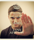 KEEP CALM AND LOVE AFELLAY - Personalised Poster large