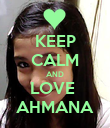 KEEP CALM AND LOVE  AHMANA - Personalised Poster large