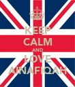 KEEP CALM AND LOVE AINAFIQAH - Personalised Poster large
