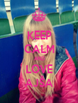 KEEP CALM AND LOVE AJŠA - Personalised Poster large