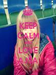 KEEP CALM AND LOVE AJŠA - Personalised Poster large