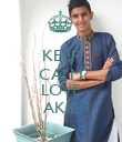 KEEP CALM AND LOVE AKIL - Personalised Poster large
