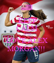 KEEP CALM AND LOVE ALEX MORGAN!!  - Personalised Poster large