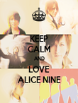 KEEP CALM AND LOVE ALICE NINE - Personalised Poster large