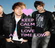KEEP CALM AND LOVE ALL TIME LOW - Personalised Poster large
