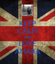 KEEP CALM AND LOVE AMARA - Personalised Poster large
