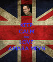 KEEP CALM AND LOVE AMARA MEYN - Personalised Poster large