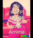 KEEP CALM AND Love  Amima - Personalised Poster large