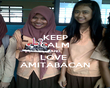 KEEP CALM AND LOVE  AMITABACAN - Personalised Poster small